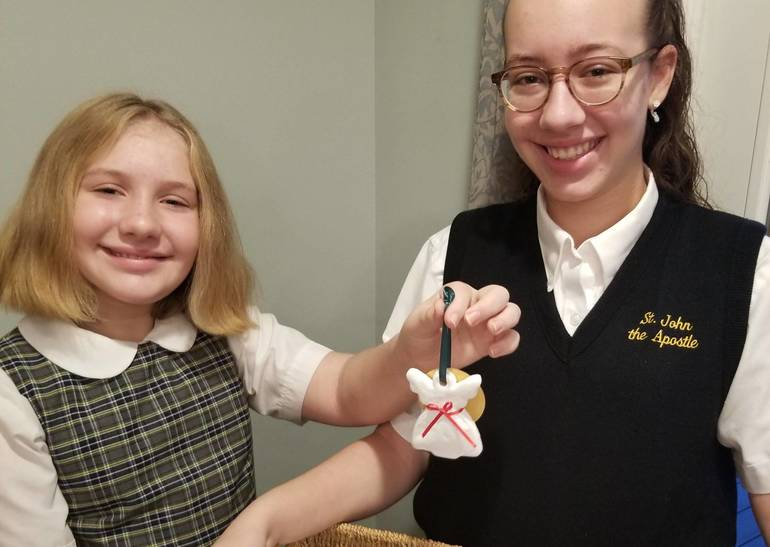 Angelic Blessings from St. John the Apostle Students Help Those Affected by Pandemic