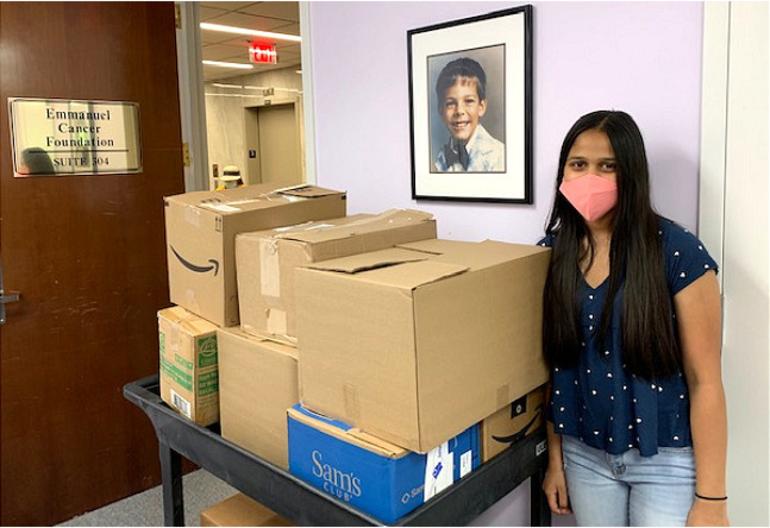 Anushka Dalal of Scotch Plains delivers supplies to Emmanuel Cancer Foundation.png