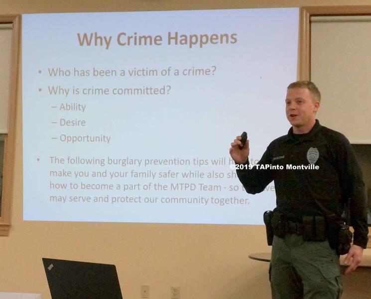 a Officer Scott McGowan gives crime tips ©2019 TAPinto Montville.JPG