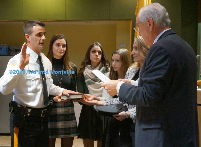 a Police Chief Andrew Caggiano takes his oath of office ©2019 TAPinto Montville.JPG