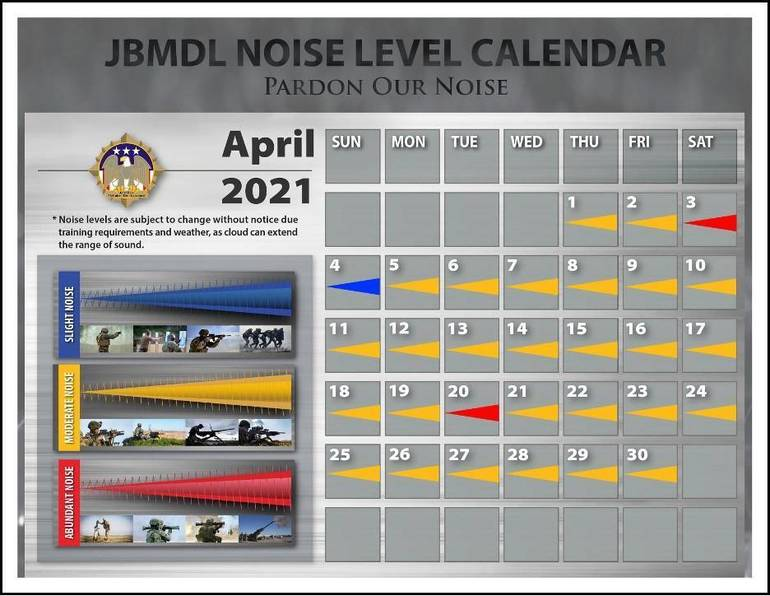 Pardon Our Noise: JBMDL Releases April Noise Level Calendar