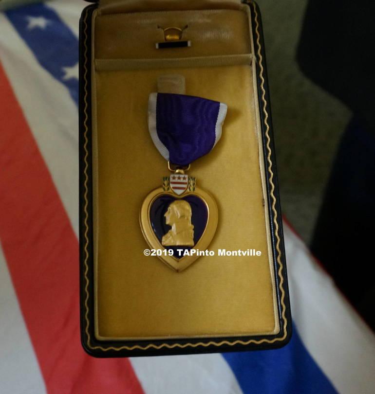 A Purple Heart medal ©2019 TAPinto Montville.JPG