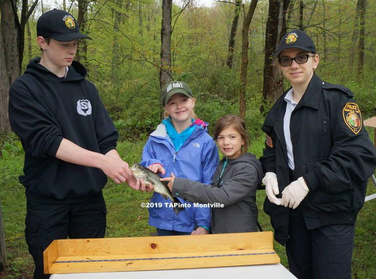 a Police Explorer Connor Olsson, Arya Goglia, her friend Elle Linzer and Explorer Sergeant Mira Sapozhnikov ©2019 TAPinto Montville.JPG