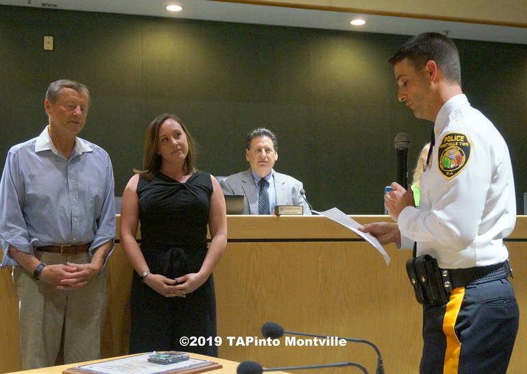 a Police Chief Andrew Caggiano reads ©2019 TAPinto Montville.JPG