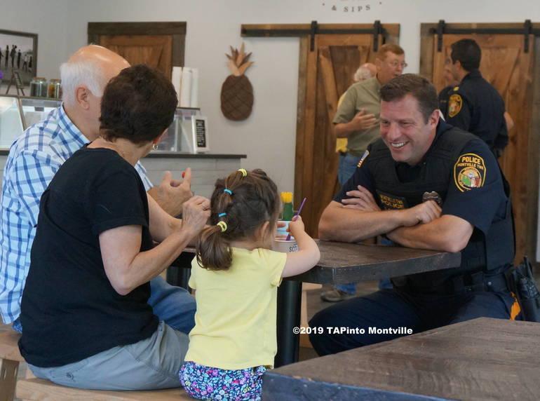 a Patrolman Sean Regan at Coffee with a Cop ©2019 TAPinto Montville.JPG