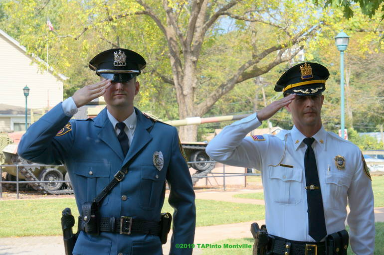 a Patrolman Thomas French and Chief Andrew Caggiano ©2019 TAPinto Montville.JPG