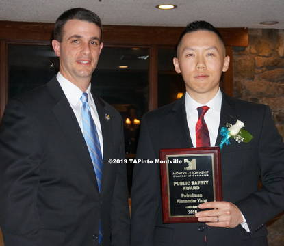 Top story 68ff10d754ae4ec493f9 a patrolman alex yang and chief andrew caggiano  2019 tapinto montville 2