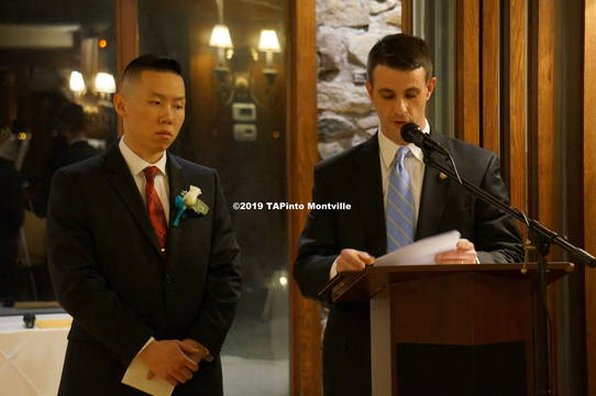 Top story 6aa01f08496f57470ae2 a patrolman alex yang and chief andrew caggiano  2019 tapinto montville 1