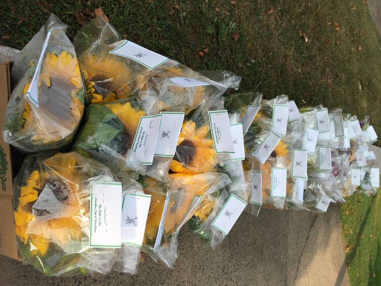 Arrangements Delivered to Mobil Meals