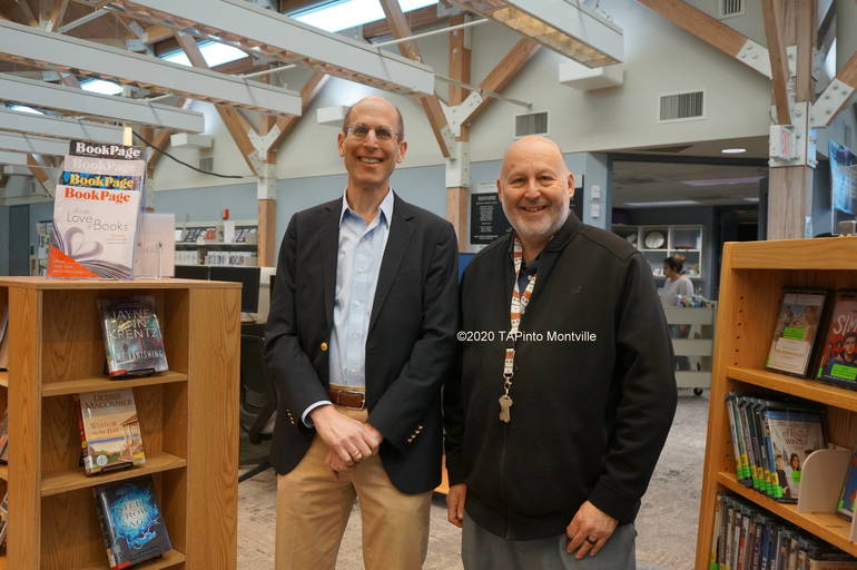 Architect Eliot Goldstein and Library Director Allan Kleimann ©2020 TAPinto Montville.JPG