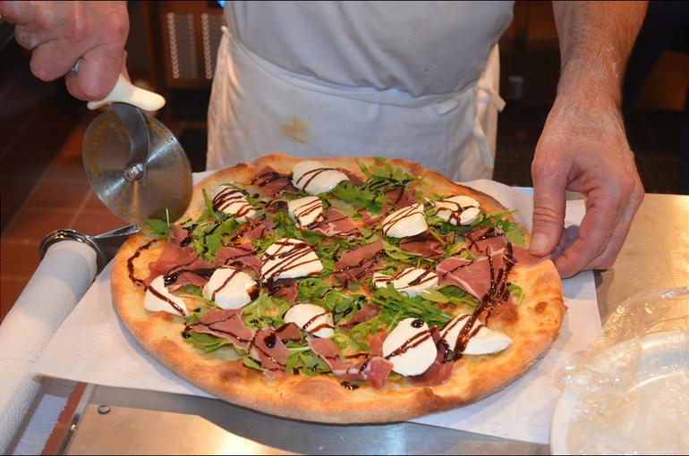 Arugula, Prosciutto and Fresh Mozzarella pie at Max's Pizza & Bistro in Scotch Plains.png