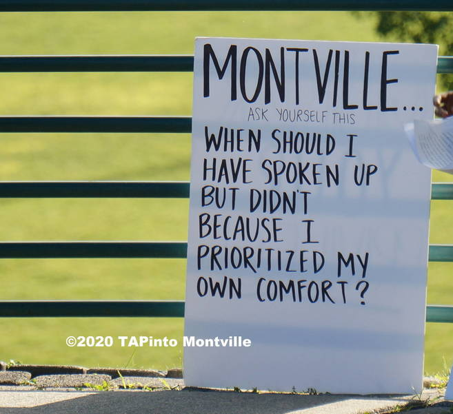 A sign at the Black Lives Matter Walk ©2020 TAPinto Montville.JPG