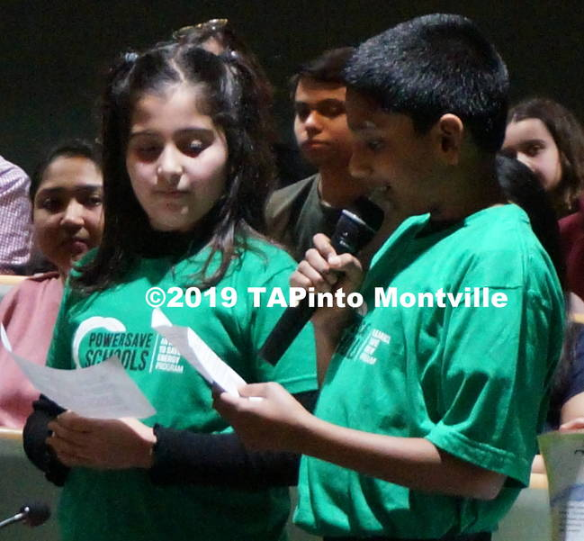 a Students from Woodmont read from their Power Save posters at the Board of Ed meeting ©2019 TAPinto Montville 1.JPG