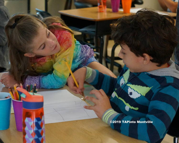 a Second Graders work to design the home of the future ©2019 TAPinto Montville.JPG