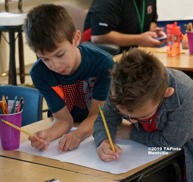 a Second Graders work to design the home of the future ©2019 TAPinto Montville  1.JPG