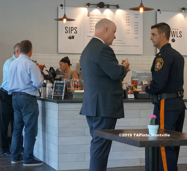 a Sheriff Gannon Chief Caggiano at Coffee with a Cop ©2019 TAPinto Montville.JPG