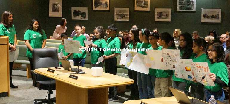 a Students from Woodmont read from their Power Save posters at the Board of Ed meeting ©2019 TAPinto Montville.JPG