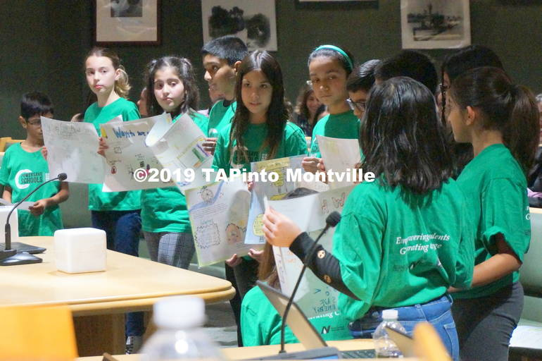 a Students from Woodmont read from their Power Save posters at the Board of Ed meeting ©2019 TAPinto Montville 3.JPG