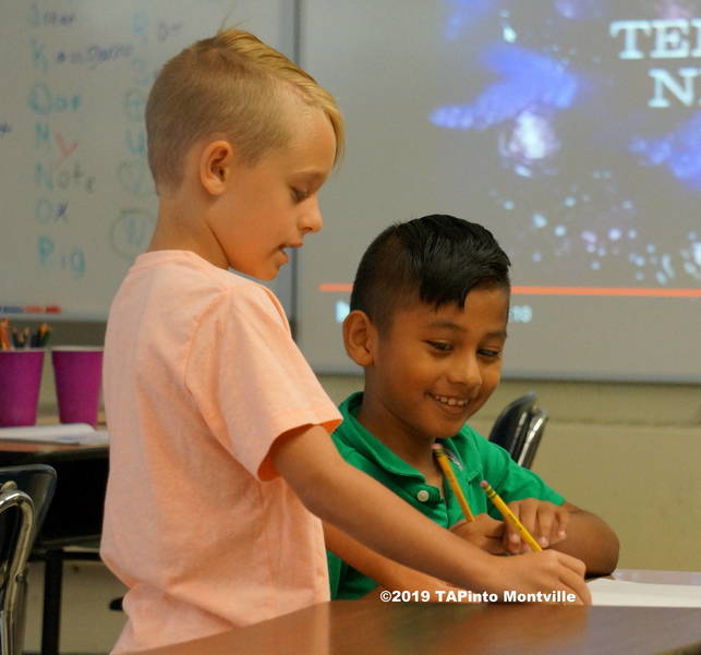 a Second graders work together to design a home for the future ©2019 TAPinto Montville   1.JPG