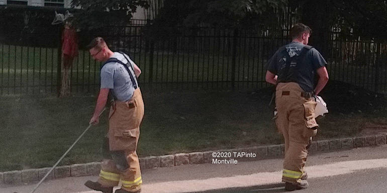 a Towaco Volunteer Fire Department responds to an oil spill ©2020 TAPinto Montville    5.jpg
