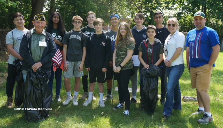 a The Lazar students with VFW Member Joe Coll and teachers ©2019 TAPinto Montville.JPG