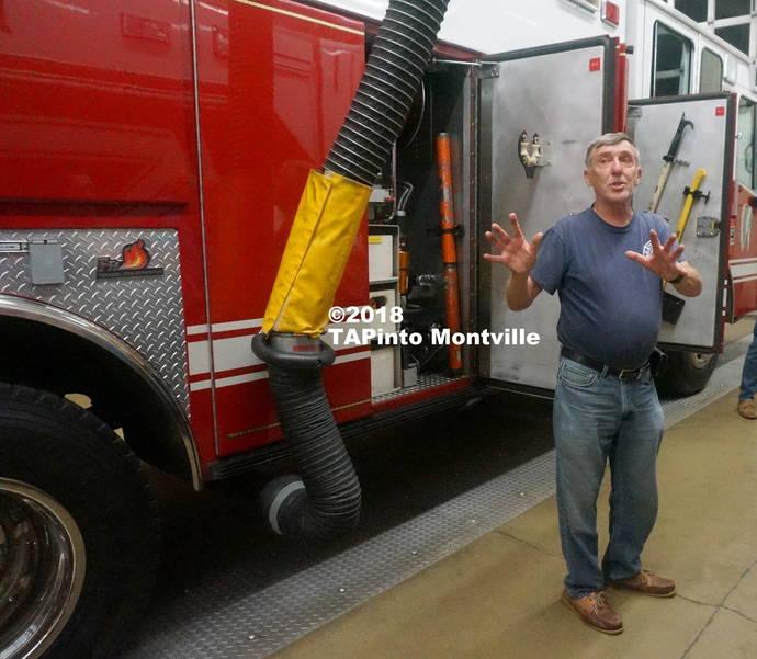 a Towaco firefighter Joe Gretkowski gives a tour of the equipment ©2018 TAPinto Montville    1..JPG