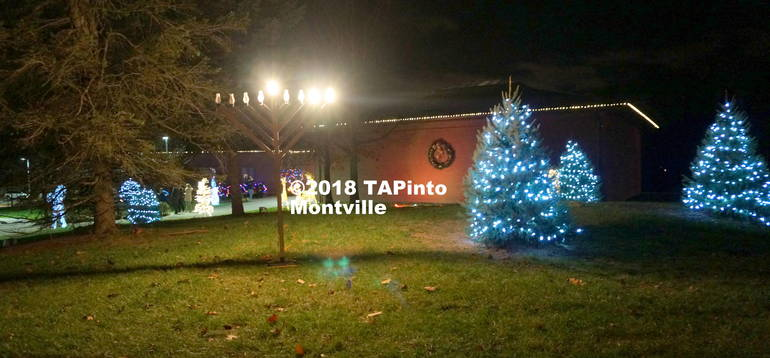 a The menorah and Christmas lights at the Municipal Building ©2018 TAPinto Montville.JPG