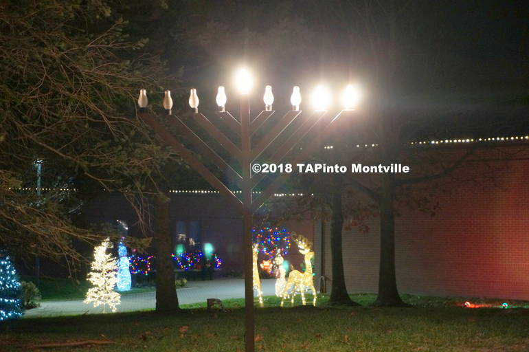a The menorah and Christmas lights at the Municipal Building ©2018 TAPinto Montville    1.JPG