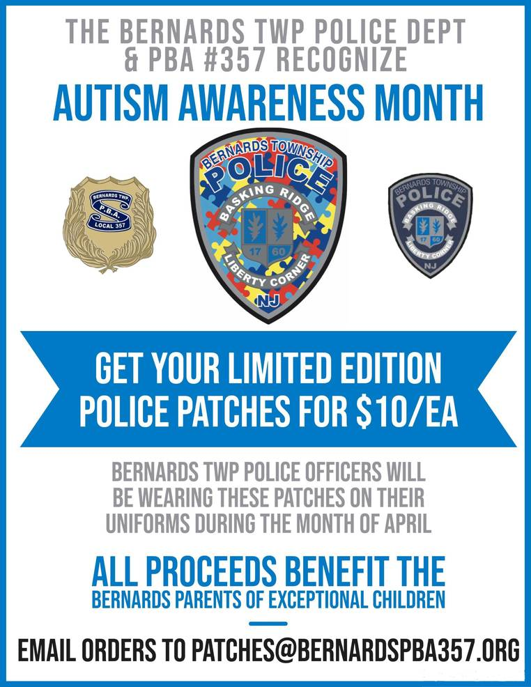 Autism Awareness Police Patches