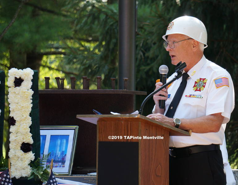 a VFW Junior Vice Commander Jeffrey Jones reads a poem  ©2019 TAPinto Montville.JPG
