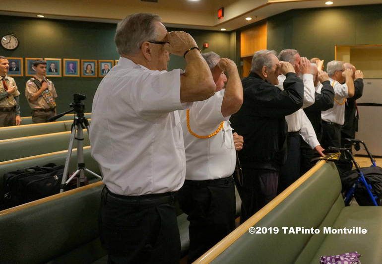 a Veterans and Scouts salute the flag ©2019 TAPinto Montville.JPG