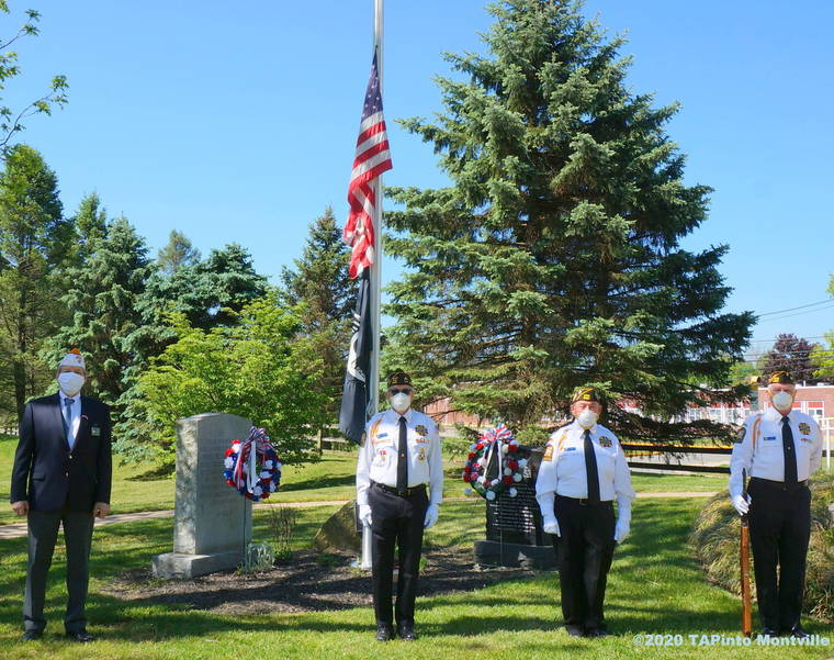 a VFW Post 5481 conduct a Memorial Day commemoration ©2020 TAPinto Montville.JPG