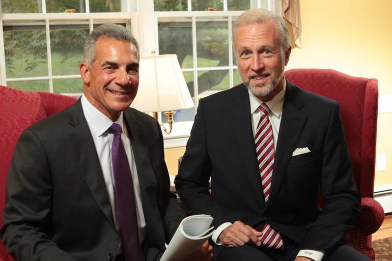 Left to right: Jack Ciattarelli & John Wisniewski