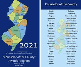 North Plainfield Counselor Selected as Counselor of the County  2021