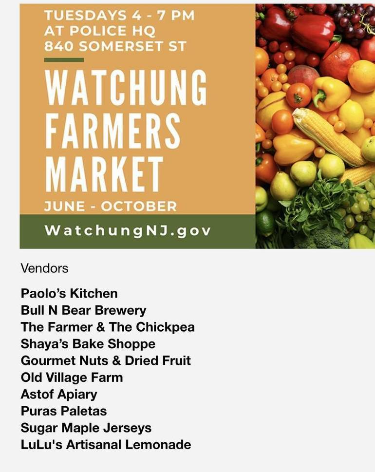 Weather Cancels Watchung Farmers Market