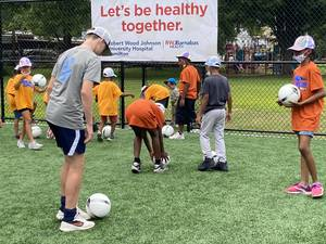 New Turf Soccer Field Opens in Hamilton Thanks to Help of RWJ's Support of Player Diversity Program