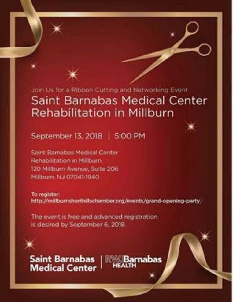 64f7c7e0da791 Saint Barnabas Medical Center Rehabilitation Ribbon Cutting on Sept ...