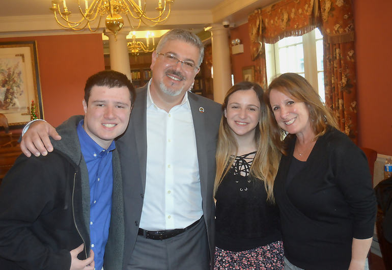 Banks family photo at the Chelsea at Fanwood