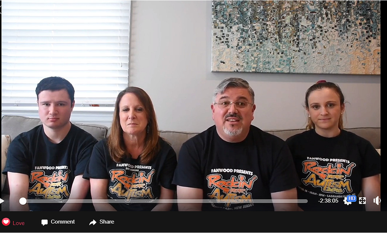 The Banks family kicks off the show virtually from their living room in Fanwood.