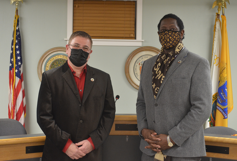 Fanwood Councilman Jeff Banks and Council President Anthony Carter
