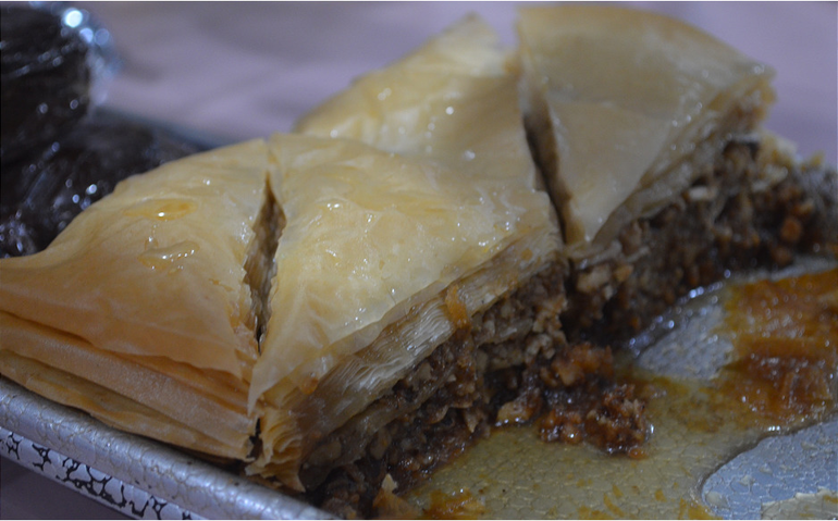 Classic Greek baklava at Scotchwood Diner in Scotch Plains.