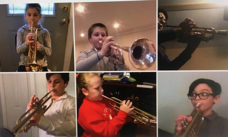 Appleby Fourth Graders Perform First Band Concert Virtually