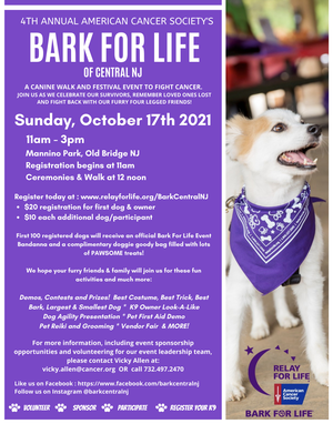 Bark For Life in Old Bridge on Oct. 17