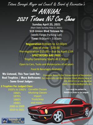 Totowa Car Show, NJ Car Show,
