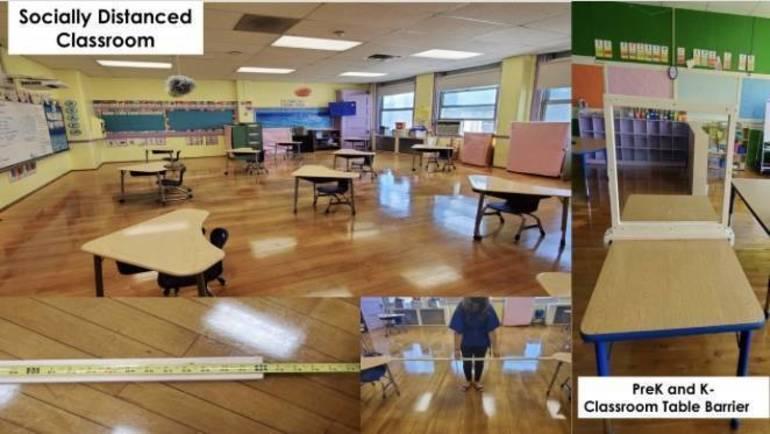 Model for a Social Distanced Classroom