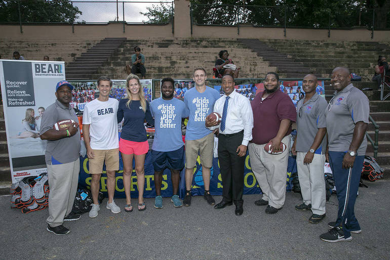 BEAR PARTNERS WITH GOOD SPORTS TO DONATE OVER $55,000 WORTH OF ATHLETIC EQUIPMENT TO EAST ORANGE JR. JAGUARS.jpg