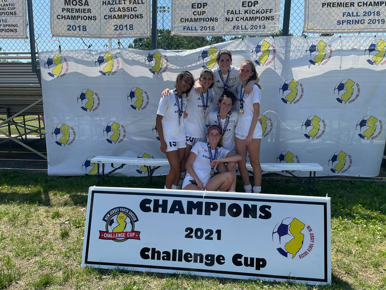 Millburn/Summit Premier Girls Soccer Team Beat Deptford Premier & Won2021 Challenge Cup