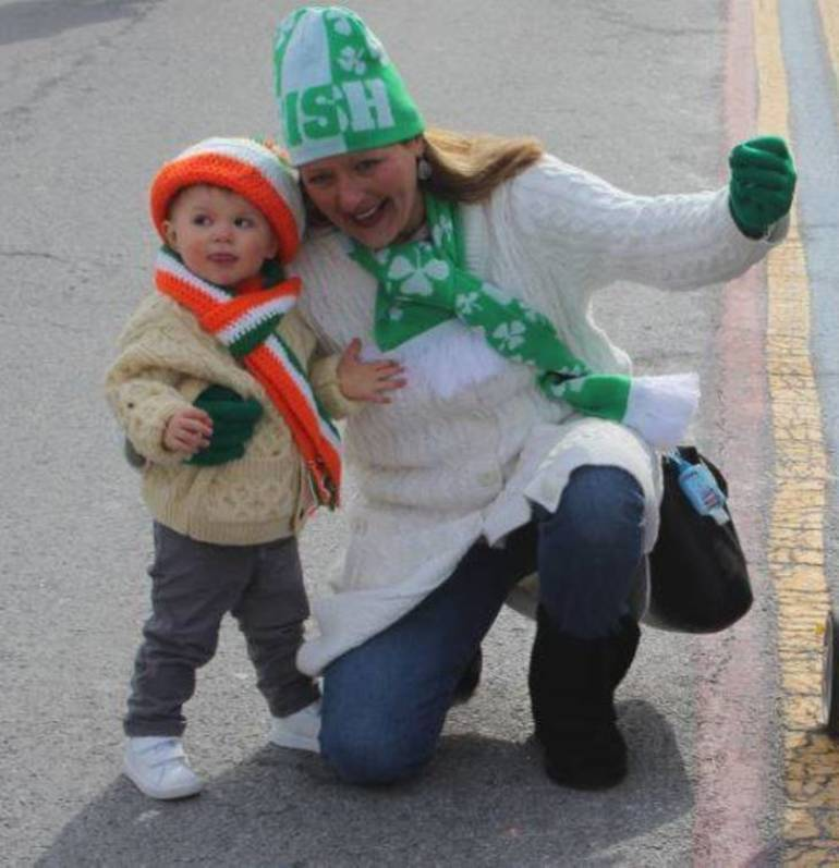 Donovan Reilly Was Dancing In The Street After Nutley's St. Patrick's Day Parade in 2018