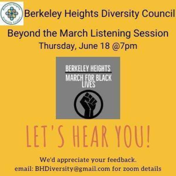 Berkeley Heights Diversity Council Beyond the March Listening Session.jpg