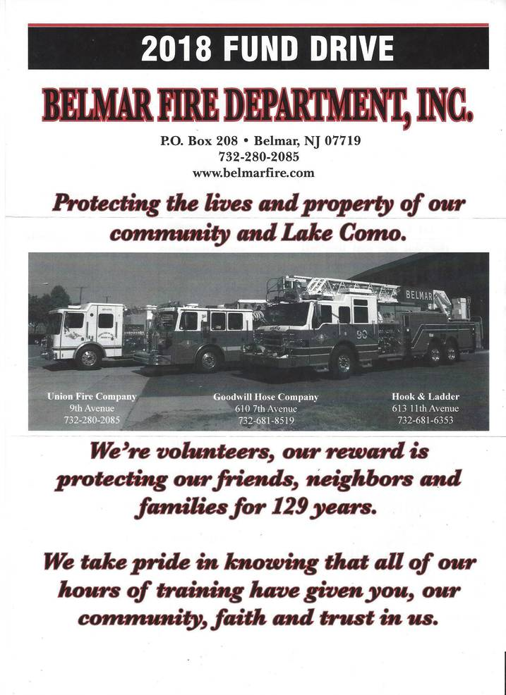 Belmar Fire Department and Belmar First Aid: Standing Ready 24/7 to Serve the Community for Generations